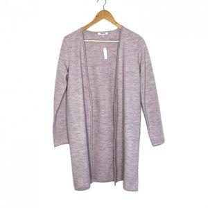 Madewell NWT Lombard Sweater-Coat Purple XXS